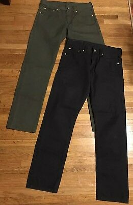 Lot Of 2 Levis 511 Mens 30/30 Jeans Green Gray Slim Straight Fit 200% Cotton