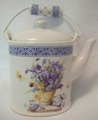 NEW! Marjolein Bastin Ceramic Teapot Lid Vanilla Candle Nature's Sketchbook