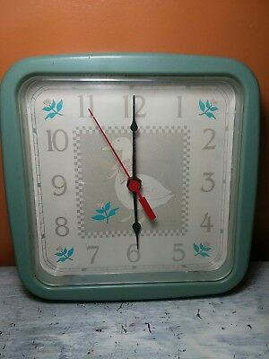 Retro Vintage Sun Beam Quartz Duck Goose Wall Clock works