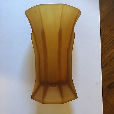 Art Deco Depression Glass Vase