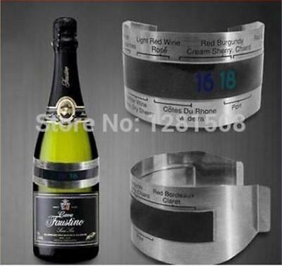 Stainless Steel Red Wine Bottle Digital Thermometer Temperature Meter 4-24