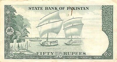 Pakistan  50  Rupees   ND.  1964  P 17a  Series A  Circulated Banknote LBL