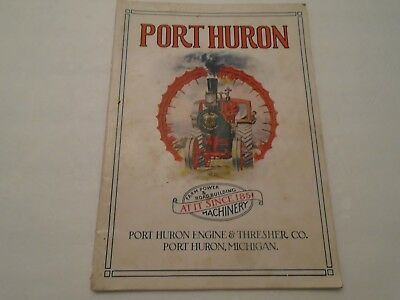 Vintage 1917 Port Huron Engine & Thresher Machinery Brochure Complete 40 Pgs.