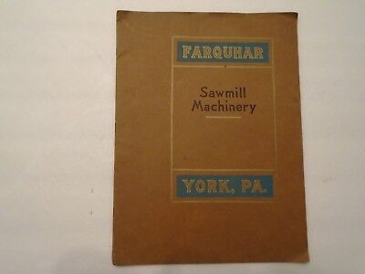 Vintage 1920 Farquhar Sawmill Machinery Catalogue No. 620 Complete 15 Pgs.
