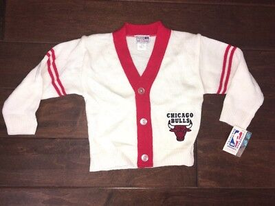 NWT Vintage Chicago Bulls Kids Cardigan Size 4T