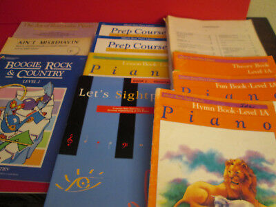 11 Music Piano Books Alfred's Prep Course Let's Sight Play Rock & Country ++++