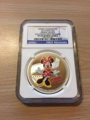 Niue 2014 Disney Mickey&Friends-Minnie Mouse Silver Proof Coin PF69 Ultra Cameo