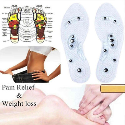 2Pairs Mindinsole insoles Men Magnetic Therapy Silicone Accupressure Insole