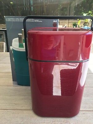 Vintage 1970's Decor Maroon BYO Wine Cooler/Carrier fits 4 bottles Aust Made