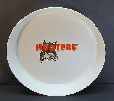 """Vintage HOOTERS Restaurant 13 1/4"""" Wide Waitress Serving Beer Drink Tray"""