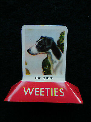 Vintage Weeties tin stand up tin cereal advertising toy FOX TERRIER EC