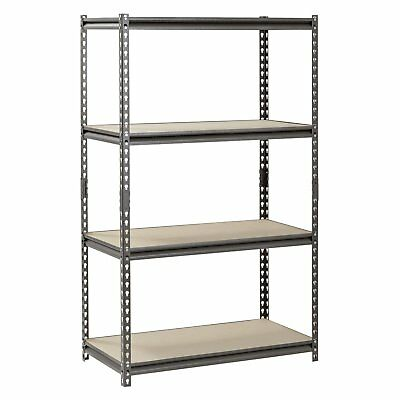 Steel Muscle Rack Heavy Duty Storage Units Adjustable 4 Levels Metal Shelves