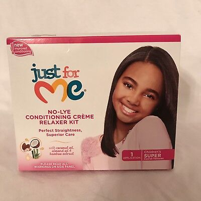 6d8b89df4 Just for Me No-Lye Conditioning Creme Relaxer Kit Children's Super NEW