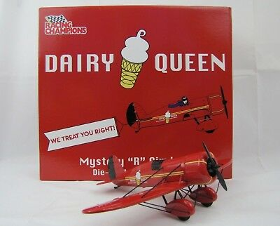 "Rare Dairy Queen Advertising Die Cast Mystery ""R"" Airplane Racing Champions"