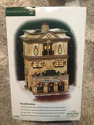 """Dept 56 Dickens' Village """"Piccadilly Gallery"""" - Egyptian Museum- NIB"""