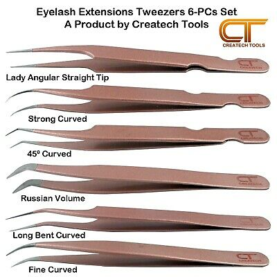 Individual False Eyelash Extensions Tweezers Applicator Volume Tweezers Set