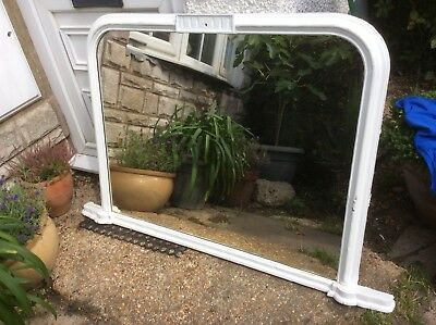 Original Victorian Overmantle Mirror Shabby Chic