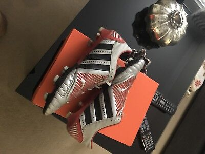 Adidas Predator Incurza Rugby Boots FG Silver/Red UK 9.5