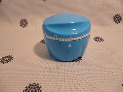 Tupperware Blue Turbo Chef Kitchen Timer Limited Edition New!