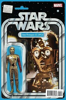 Star Wars Special: C-3Po #1 (2016) Action Figure Variant, Christopher Marvel, Nm
