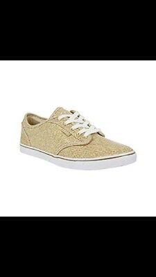 WOMENS ATWOOD LOW (Gold White Glitter) Vans UK  5 0283a2a828ae