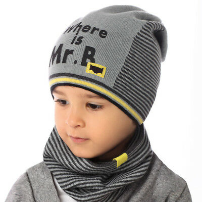 Boys Baby Set SPRING / AUTUMN  Hat Cap + Scarf  For ca.2-4 Years  NEW
