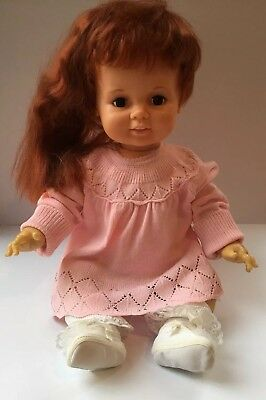 "* BABY CRISSY DOLL IDEAL Vintage 1972 Grow Hair Ponytail Chrissy 24"" - VERY GOOD"