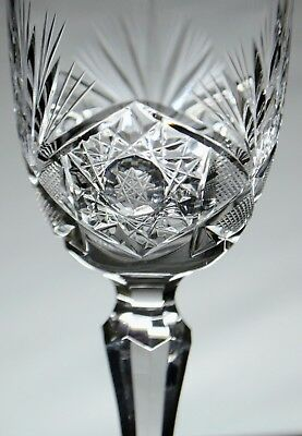 6x Bohemia Crystal Sherry /Port/Liquer Stemmed Glasses - 8 Pointed Star Octagram