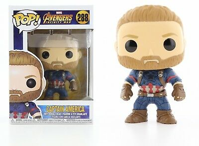 Funko Pop Marvel Avengers Infinity War: Captain America Bobble-Head Item #26466