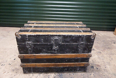 Vintage Metal and Wood Storage Chest