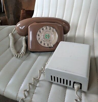 Vintage 1970s era GPO 776 Compact Telephone with seperate Bell ringer unit.