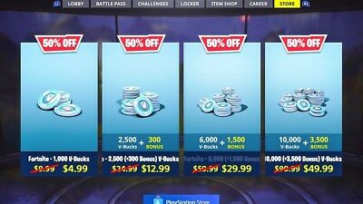 Fortnite Buy V-Bucks with 50% off guide!! Guaranteed -> PC/PS4/XBOX