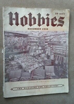 Hobbies.  The magazine for Collectors.  November 1936