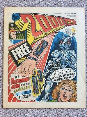 2000ad comic 2nd second issue first Judge Dredd March 1977 Beautiful Condition