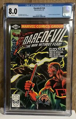 MarvelComicsDaredevil #168 1st Appearance of Electra CGC Graded 8.0