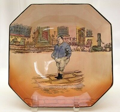 Royal Doulton Dickens Ware THE FAT BOY Octagon Shaped Bowl 8 1/2""