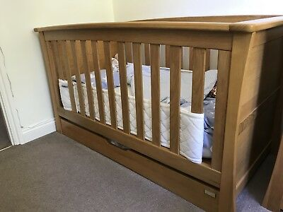 Mamas And Papas Ocean Solid Spring Oak Wooden Cotbed