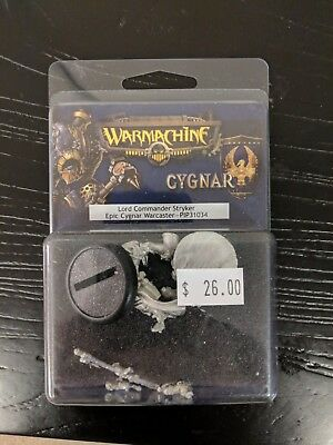 Warmachine - Lord Commander Stryker Epic Cygnar Warcaster PIP31034 (New in Box)