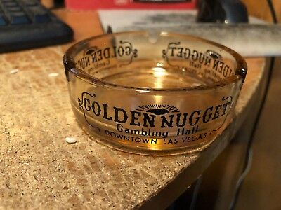 Golden Nugget Gambling Hall--Downtown Las Vegas-Vintage Ashtray--Used Condition