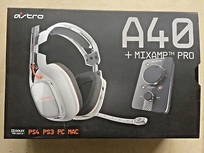 Gaming headset, microphone, mixamp by Astro RRP£250 A40 Pro PS4 PS3 PC MAC