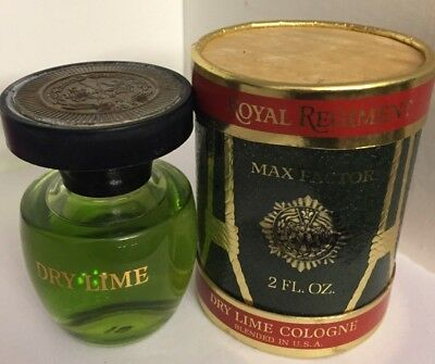 Vintage Max Factor Royal Regiment- dry lime  Cologne- 2.Oz new in box