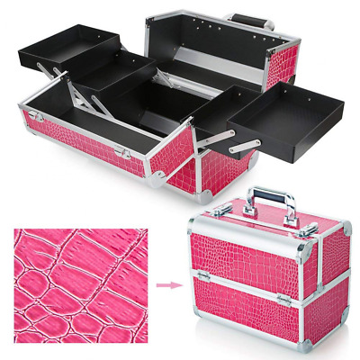 Hotrose Extra Large Space Storage Beauty Box Make up Nail Jewelry Cosmetic Vanit