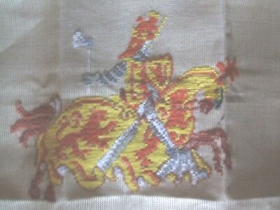 "Trammed Tapestry Canvas Robert The Bruce In Armour On Horse 17"" Square  10=1"""