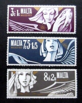 Malta-1972-Christmas set of 3-MNH