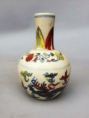 Chinese Ming Dy Chenghua Porcelain Hand-painted *dragon* sphere Vase