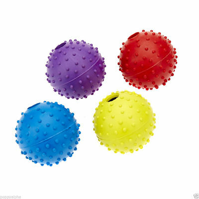 Classic Pet Dog Puppy Rubber Pimple Ball + Bell Toy  Dogs *SAMEDAY DISPATCH*