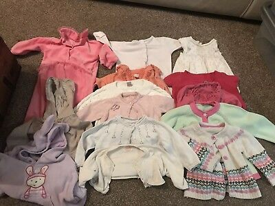 Baby Clothes Girl Bundle (joblot) Cardigans 3-6 Mths And  Baby Dior Romper