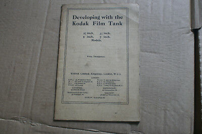 Developing with the kodak film tank 15 page instruction leaflet.