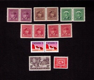 Canadian Stamps. Small Collection. High Cv Value. Mint Never Hinged. Lot6163