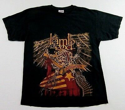 LAMB OF GOD Killadelphia Live 2004 Heavy Metal Band Souvenir Black T Shirt Sz L